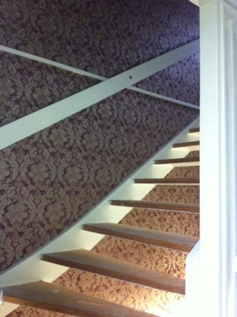 Fondvägg i trapp, upplandsväsby
